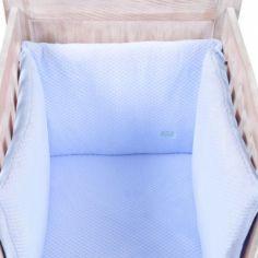 Tour de lit Beryl bleu (pour lits 60 x 120 cm et 70 x 140 cm)