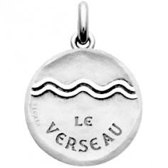 Médaille symbole Verseau (or blanc 750°)