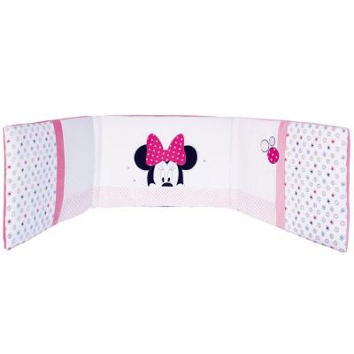 tour de lit minnie patchwork pour lits 60 x 120 et 70 x 140 cm par babycalin. Black Bedroom Furniture Sets. Home Design Ideas