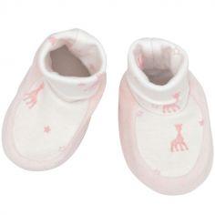Chaussons de naissance roses Sophie la girafe (0-1 mois)