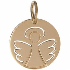 Médaille Angélique personnalisable 17 mm (or jaune 750°)