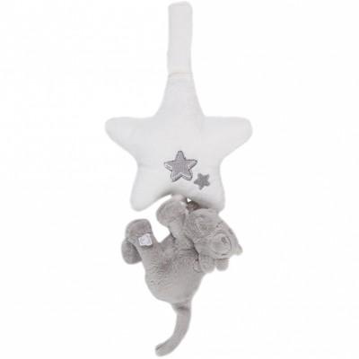 Mini doudou musical Lola vache à suspendre Poudre d'étoiles (15 cm)  Noukie's