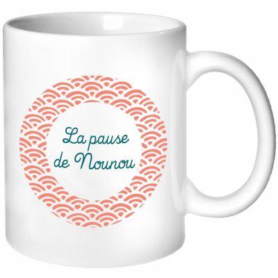 Mug Nounou Eventail corail (personnalisable)  par Les Griottes