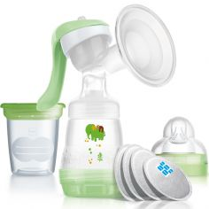 Tire-lait manuel vert + accessoires