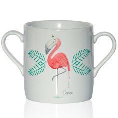 Tasse en porcelaine Flamant rose (personnalisable)