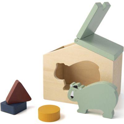 Maison à formes en bois ours Mr. Polar Bear  par Trixie