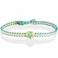 Bracelet cordon Primegioie Zodiaque Balance (or jaune 375°)