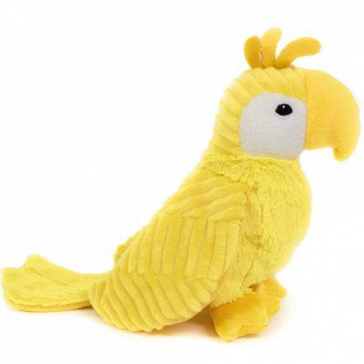 Peluche Repetou le perroquet jaune (22 cm)  par Les Déglingos