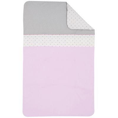 couverture b b coton bio claudine 75 x 120 cm par p 39 tit basile. Black Bedroom Furniture Sets. Home Design Ideas