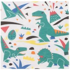 Lot de 20 serviettes en papier dinosaure Jurassic Park