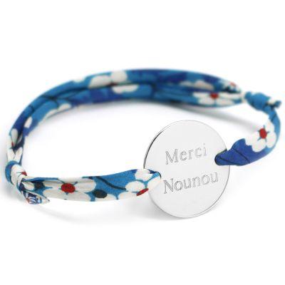 Bracelet cordon liberty Family personnalisable (argent 925°)  par Petits trésors