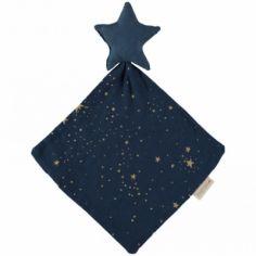 Doudou plat étoile Gold stella bleu