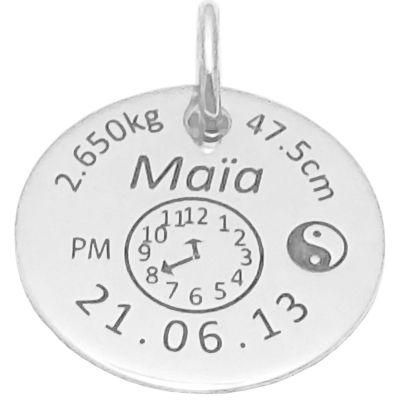 Médaille signe Yin et Yang (argent 925°)  par Alomi
