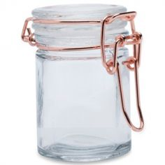 Bocal à dragées en verre rose doré (40 ml)