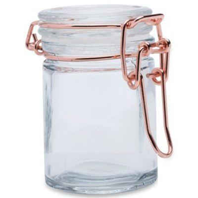 Bocal à dragées en verre rose doré (40 ml)  par Arty Fêtes Factory