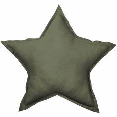 Coussin étoile olive Pure nature (45 cm)