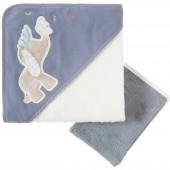 Set de bain serviette et gant Bao et Wapi (75 x 75 cm) - Noukie's