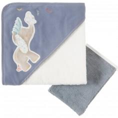 Set de bain serviette et gant Bao et Wapi (75 x 75 cm)