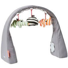 Arche de jeux animaux à rayures (80 x 48 x 22 cm)