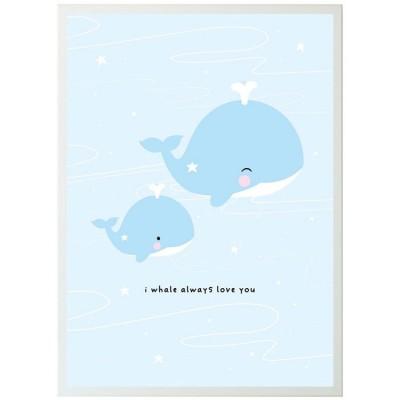 Affiche baleine (50 x 70 cm)  par A Little Lovely Company