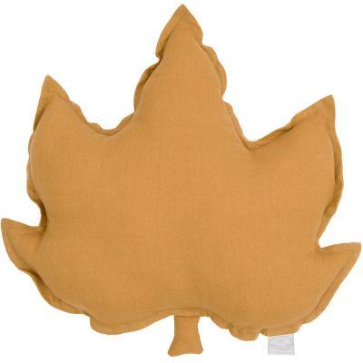 Coussin feuille d'érable caramel (43 cm)  par Cotton&Sweets
