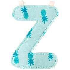 Lettre en tissu à suspendre Z (9,5 cm)