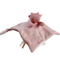 Doudou plat attache sucette Iconiques Lola rose