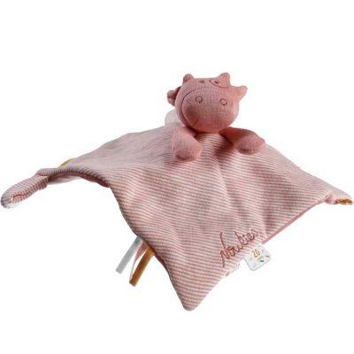 Doudou plat attache sucette Iconiques Lola rose  par Noukie's