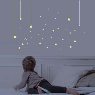 Sticker Mur d'étoiles phosphorescentes Art for Kids