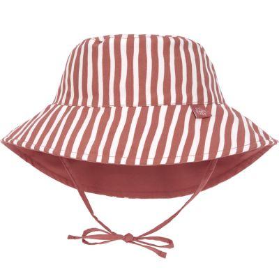 Chapeau anti-UV réversible rayé rouge (19-36 mois)