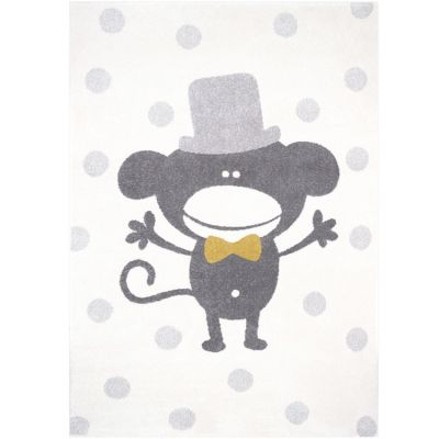 Tapis rectangulaire singe Polka Monkey (120 x 170 cm)  par Nattiot