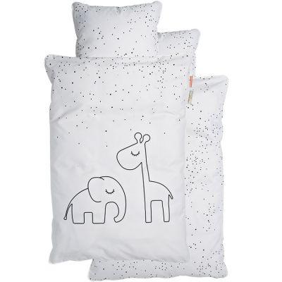 Housse de couette (100 x 140 cm) et taie (40 x 60 cm) Dreamy Dots blanc Done by Deer