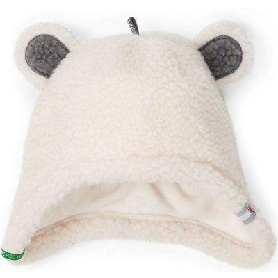 Bonnet hiver ours blanc Teddy (3-6 mois)  par Lodger