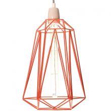 Lampe baladeuse Diamond 5 orange  par FilamentStyle