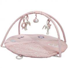 Tapis d'éveil avec arches lapin rond Adventure pink (86 x 44 cm)