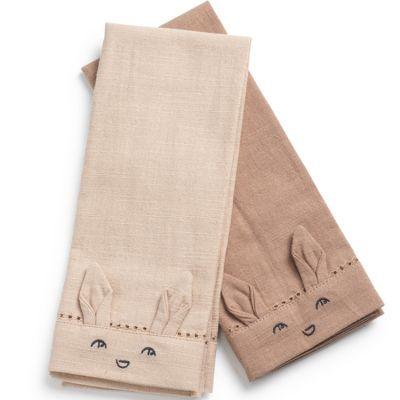 Lot de 2 serviettes de table Faded Rose / Powder Pink  par Elodie Details