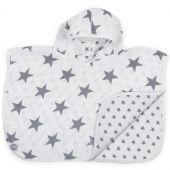 Poncho de bain hydrophile Little star gris anthracite (45 x 60 cm) - Jollein