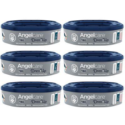 Pack de 6 recharges octogonales pour poubelle à couches Dress Up  par Angelcare