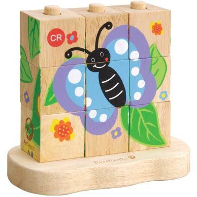 Puzzle à empiler Chenille à papillon EverEarth