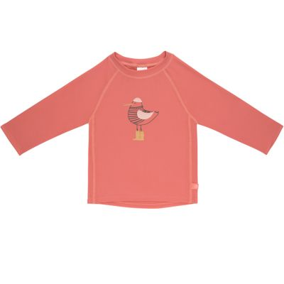 Tee-shirt anti-UV manches longues Mme Mouette corail (2 ans)