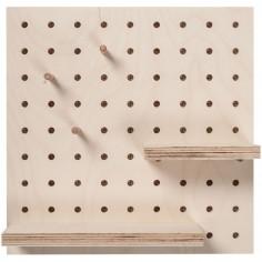 Panneau perforé pegboard carré (30 x 30 cm)