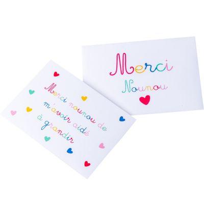 Carte Merci Nounou avec enveloppe  par Arty Fêtes Factory