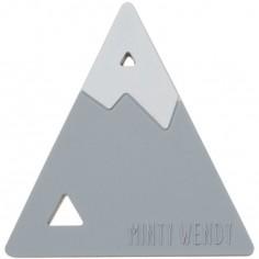 Anneau de dentition Montagne gris clair et blanc