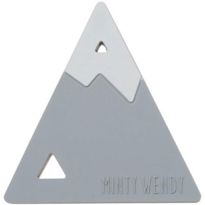 Anneau de dentition Montagne gris clair et blanc  par MintyWendy