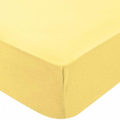 Drap housse de berceau jersey paille (50 x 100 cm)  par Domiva
