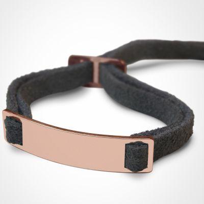 Bracelet 'Skin' (or rose 750°)  par Mikado