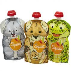 Lot de 3 gourdes réutilisables Australia (130 ml)