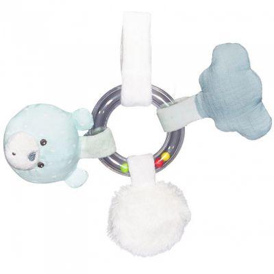 Hochet d'activités anneau à billes ours Lily mint  par Sauthon