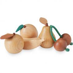 Fruits factices en bois