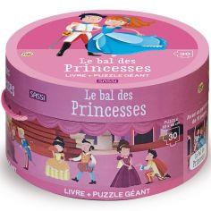Livre + puzzle géant Le bal des princesses (30 pièces)